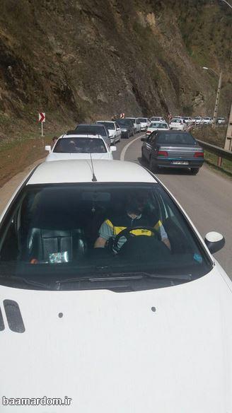 گزارش تصویری ترافیک سنگین در محور ماسوله به فومن