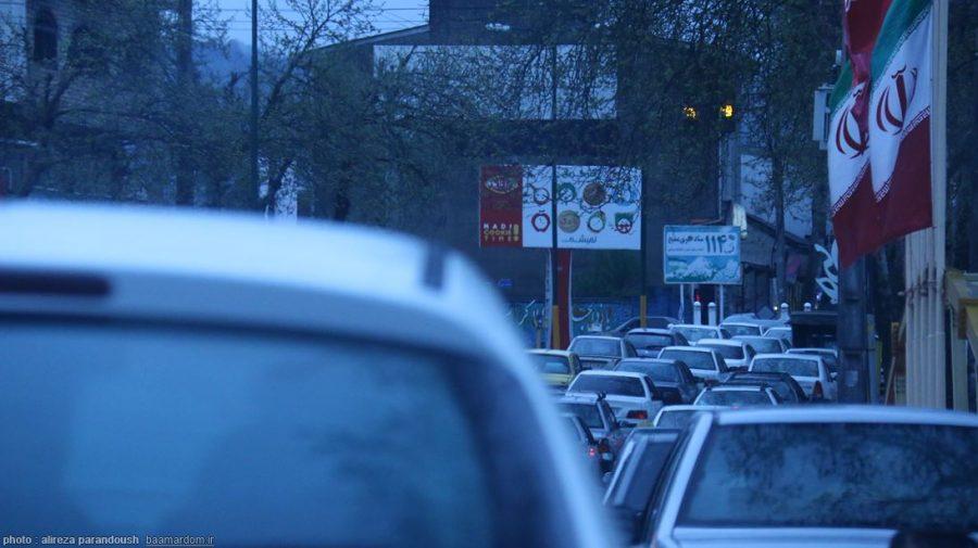 گزارش تصویری یک روز بارانی و ترافیک جاده های گیلان