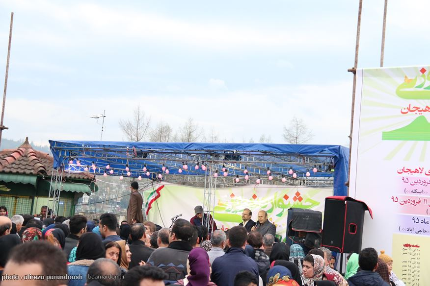 استقبال گردشگران و مسافران از برنامه های نوروزی شهرستان لاهیجان