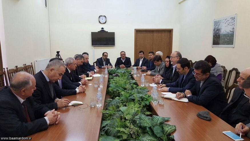جلسه استان دار گیلان با وزير كشاورزي كشور ارمنستان