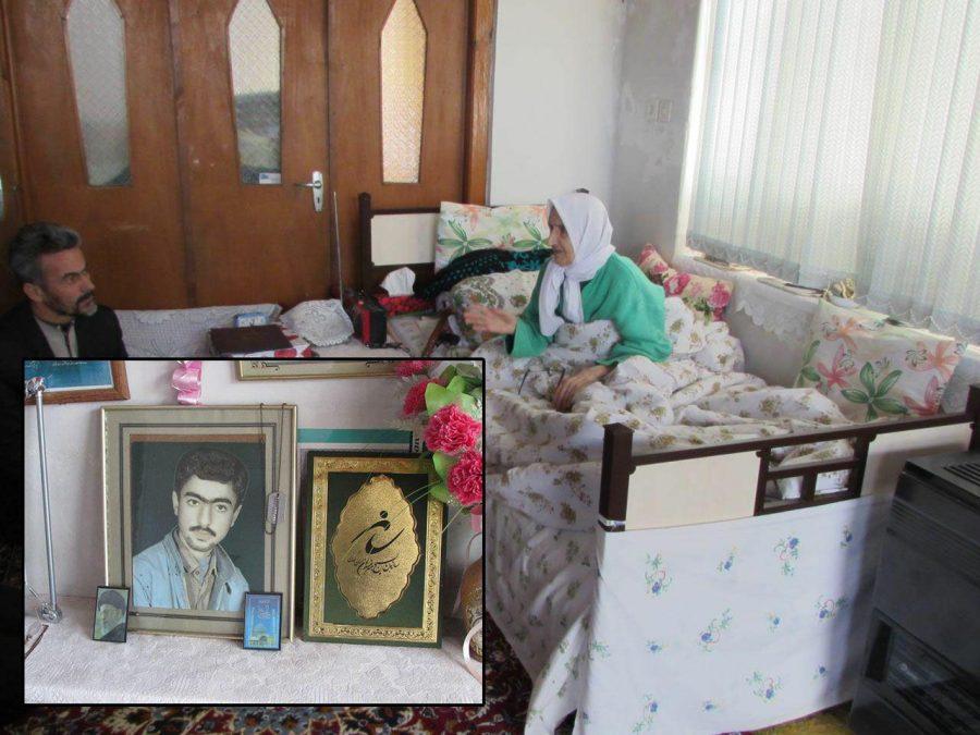 مادر شهید احمد آقاجانی دعوت حق را لبیک گفت و به فرزند شهیدش پیوست.