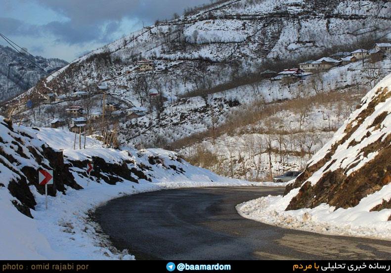 گزارش تصویری از ارتفاعات برفی رحیم آباد