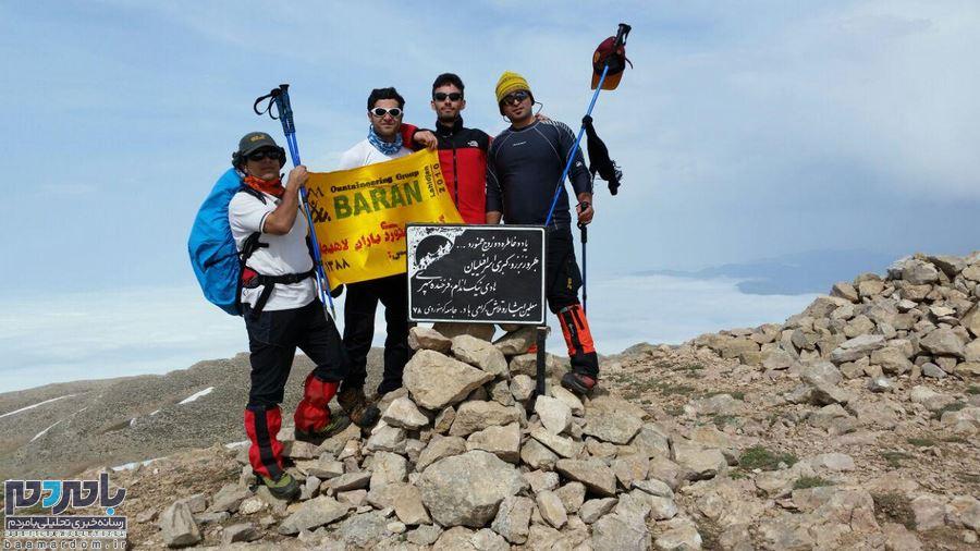 صعود همزمان کوهنوردان گیلانی به قله درفک یک و دو + تصاویر