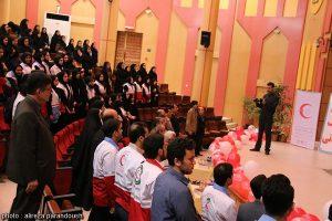برگزاری همایش گرامیداشت هفته هلال احمر در دانشگاه آزاد لاهیجان (1)