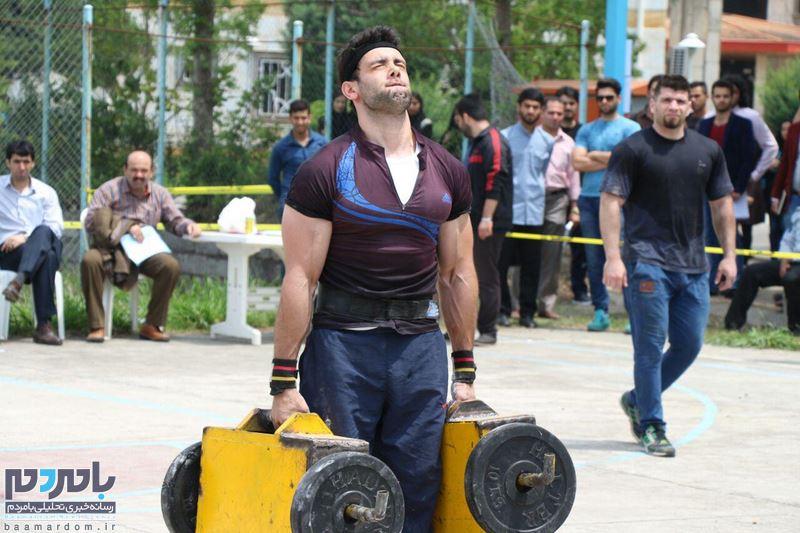دومین دوره مسابقات قوی ترین مردان در دانشگاه آزاد لاهیجان برگزار شد + تصاویر