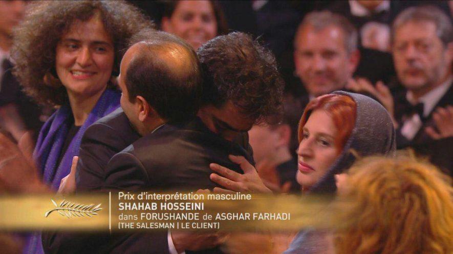 شهاب حسینی بهترین بازیگر جشنواره کن شد / اصغر فرهادی برنده نخل طلای بهترین فیلمنامه شد