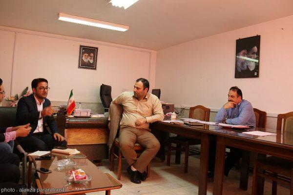 نشست روابط عمومی دانشگاه آزاد لاهیجان با ریاست واحد (1)