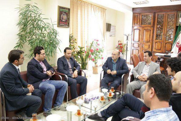 نشست روابط عمومی دانشگاه آزاد لاهیجان با فرماندار لاهیجان (8)