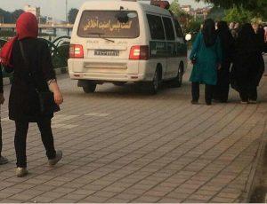 حضور گشت امنیت اخلاقی در حاشیه استخر لاهیجان!