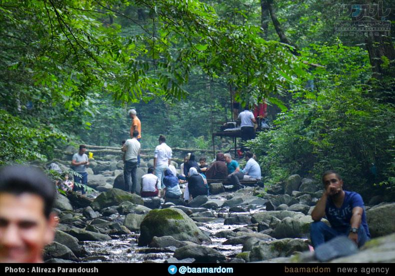 آبشار لونک، سیاهکل مکانی زیبا برای گردشگران