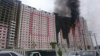 جزئیات آتشسوزی برج مسکونی طاووس در منطقه آزاد انزلی + تصاویر