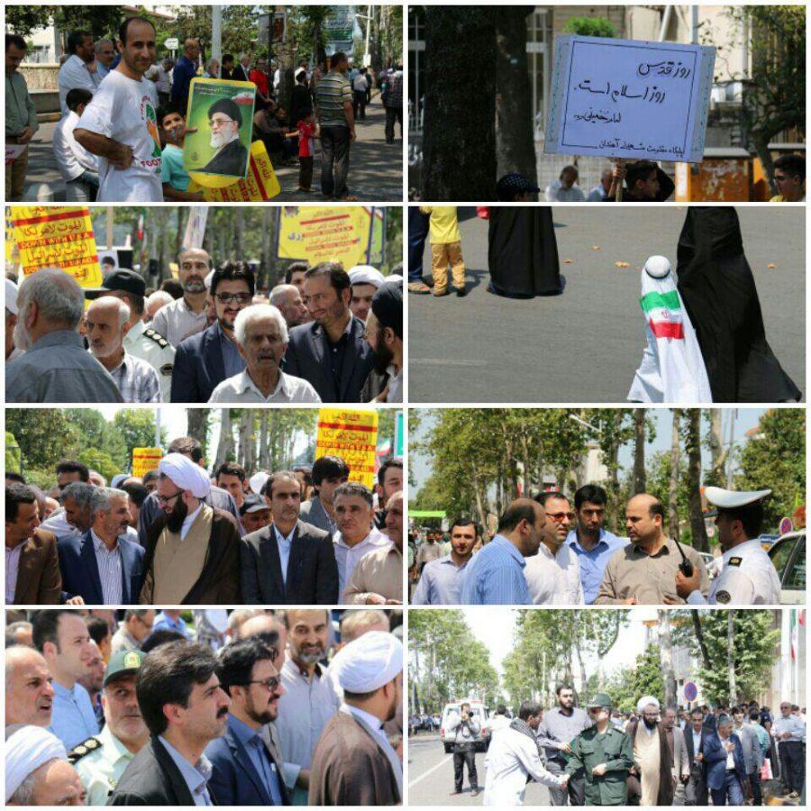 گزارش تصویری راهپیمایی روز قدس در شهرستان لاهیجان