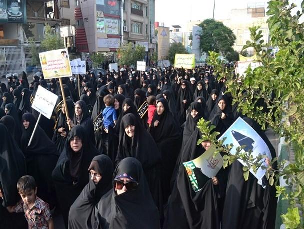 تجمع عفاف و حجاب و حضور چشمگیر آقایان+تصاویر