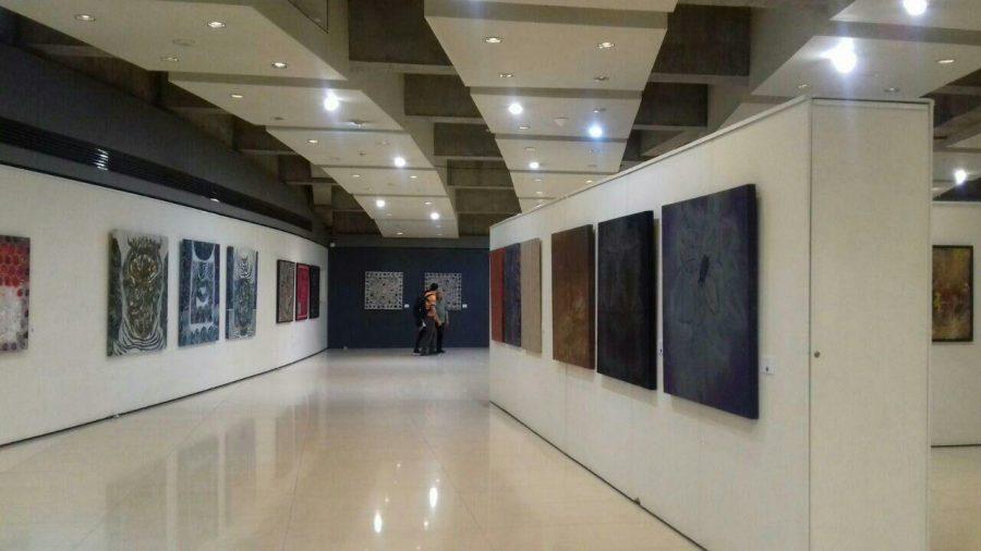 آثار نقاشی هنرمندان گیلانی در نمایشگاه پردیس ملت تهران + تصاویر