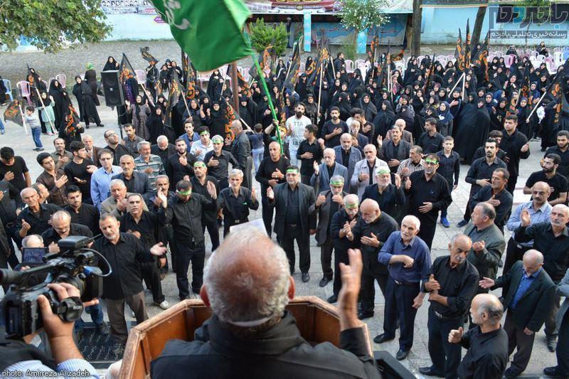 تجمع بزرگ لبیک یا امام حسین در لاهیجان