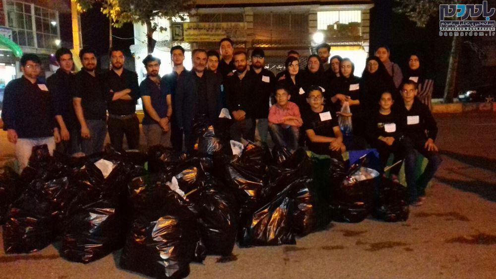 زباله های نذری ایام محرم در سیاهکل جمع آوری شد + گزارش تصویری
