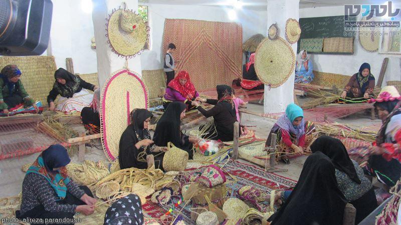صادرات اولین محموله حصیر گیلان به مقصد کشورهای حاشیه خلیج فارس + تصاویر