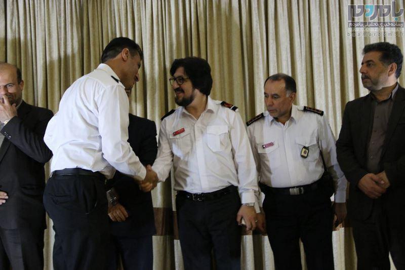 مراسم تجلیل از آتش نشانان شهرستان لاهیجان