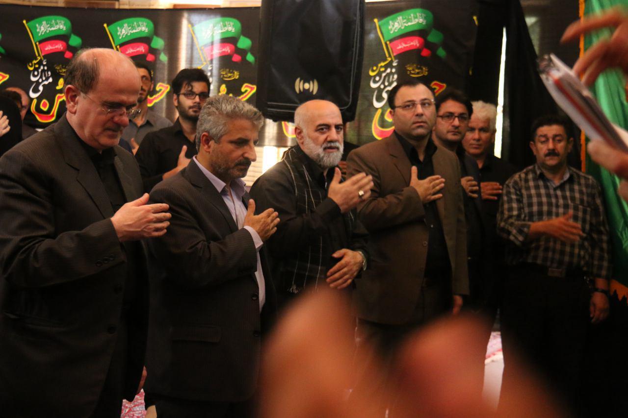 مراسم سوگواری و عزاداری امام حسین(ع) در دانشگاه آزاد لاهیجان برگزار شد + تصاویر