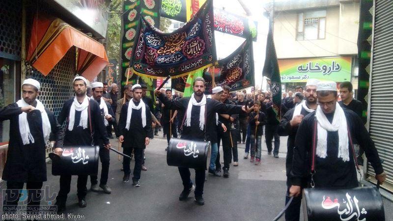 مراسم عزاداری تاسوعای حسینی در لاهیجان