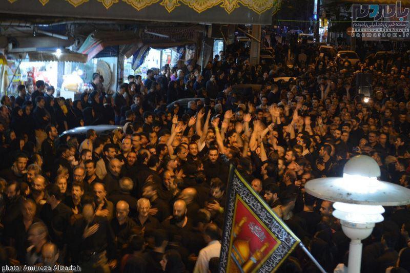 مراسم عزاداری در هشتمین شب ماه محرم در لاهیجان
