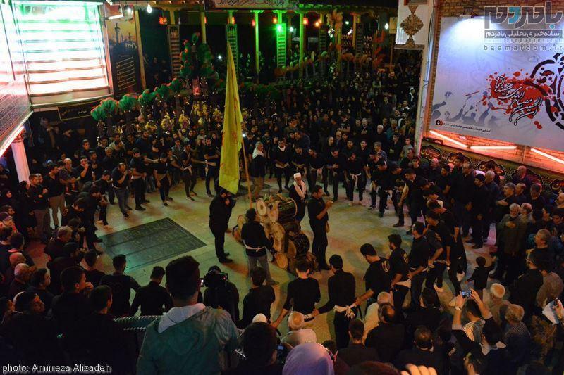 مراسم عزاداری در هفتمین شب ماه محرم در لاهیجان