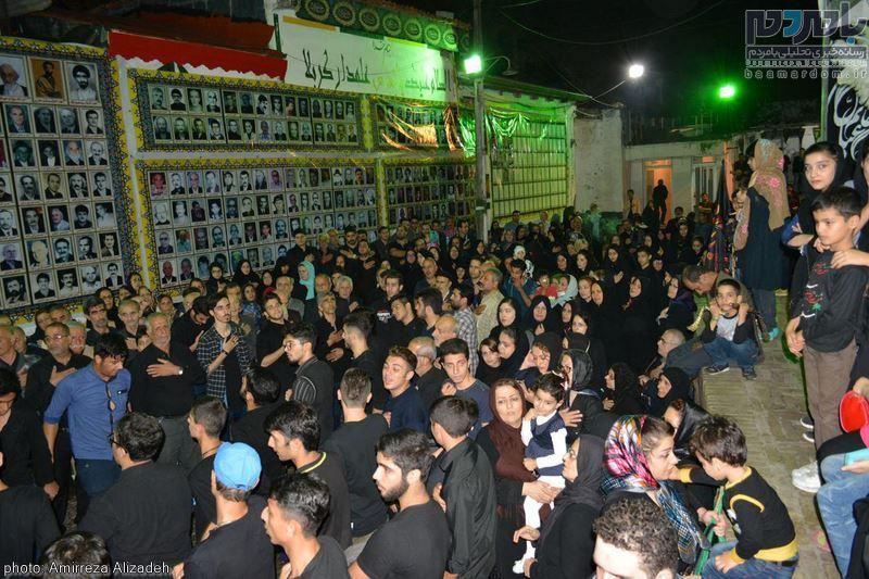 مراسم علم بندی و عزاداری محله چهارپادشاه و شعربافان