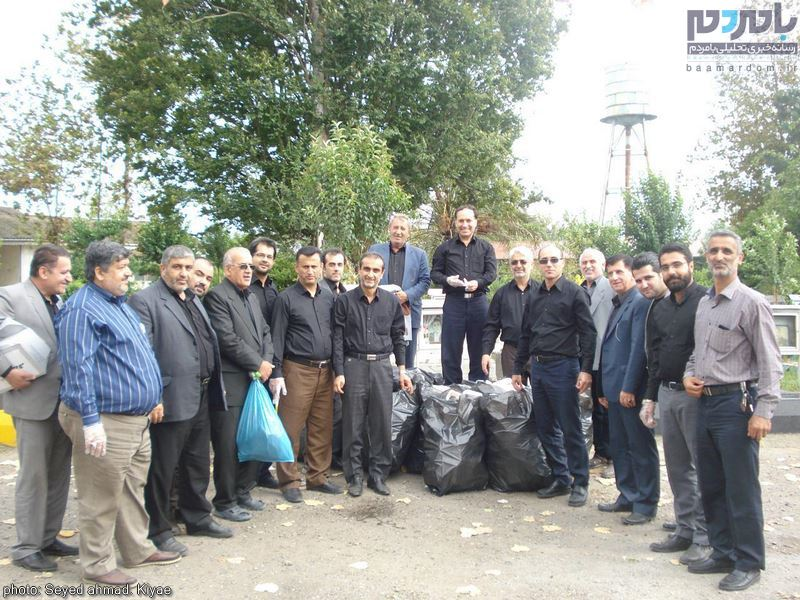 عزاداری روز یازدهم محرم و پاکسازی زبالهها توسط مسئولین در بخش رودبنه