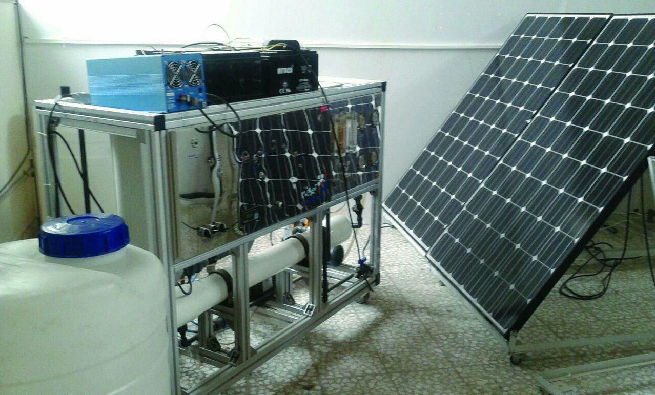 ساخت دستگاه آب شیرین کن خورشیدی توسط پژوهشگران گیلانی