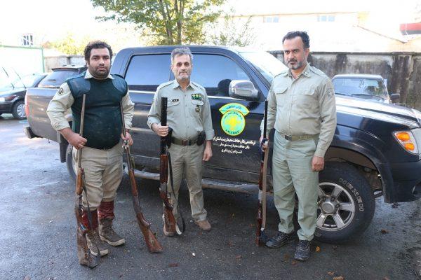 درگیری متخلفین با مامورین یگان حفاظت محیط زیست رشت