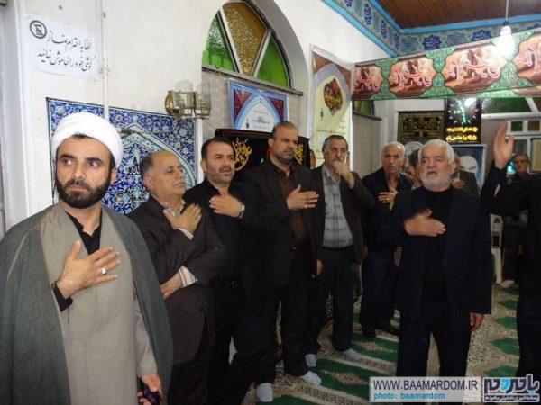 مراسم عزاداری آخر ماه صفر در بقعه متبرکه امیر صادق (ع) لاهیجان برگزار شد + تصاویر