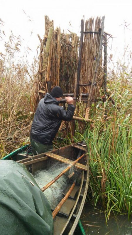 تخریب پناهگاه های غیر مجاز شکارچیان در تالاب انزلی + تصاویر