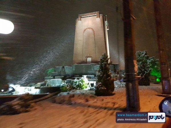 بارش دومین برف پاییزی در لاهیجان + پیش بینی هواشناسی