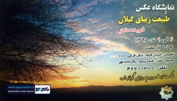 نمايشگاه عكس «طبيعت زيباي گيلان» در لاهیجان برگزار می شود
