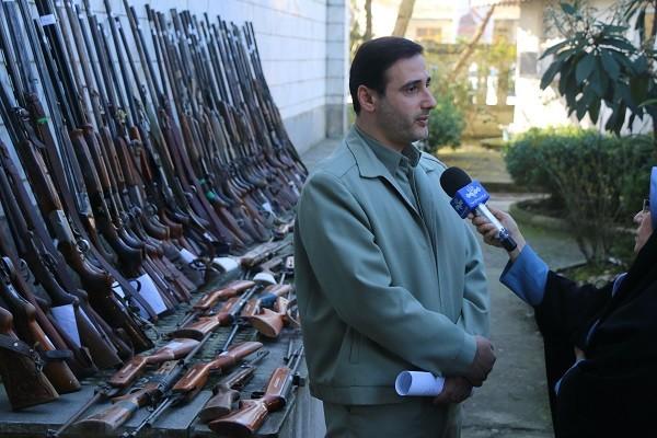 کشف و ضبط ۱۶۵ اسلحه و دستگیری ۲۱۸ متخلف شکار و صید