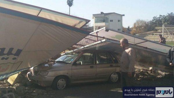 ریزش دیوار و فوت یک رهگذر در لاهیجان   دستور ویژه فرماندار برای رسیدگی + تصاویر