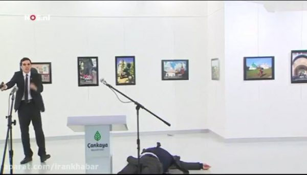 سفیر روسیه در ترکیه بر اثر حمله تروریستی کشته شد+ فیلم کامل تیراندازی