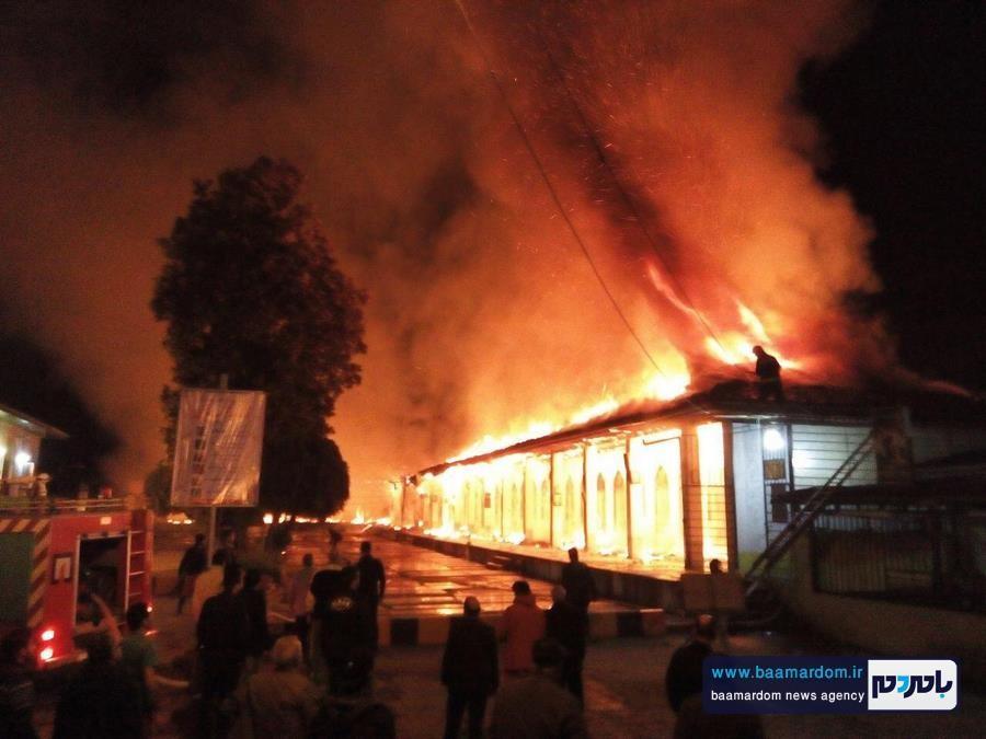 آرامستان آقا سید محمد یمنی لاهیجان در آتش سوخت + تصاویر