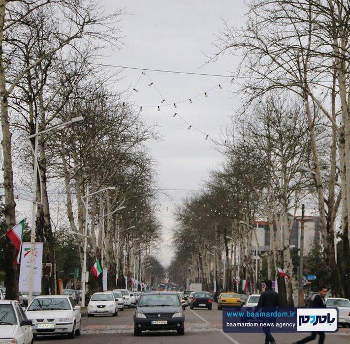 شهرداري لاهيجان به استقبال دهه فجر رفت + تصاویر