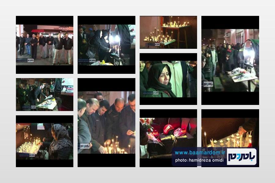 کلیپ گردهمایی و ابراز همدردی شهروندان با پرسنل آتش نشانی لاهیجان