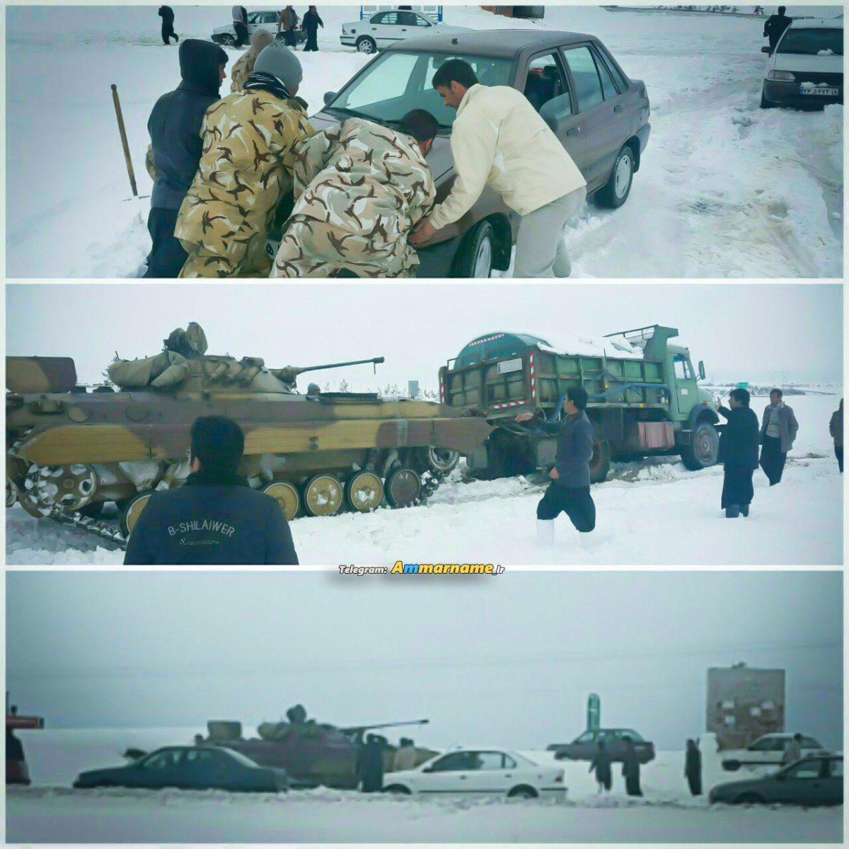 فوری | اعزام تانک و نفربرهای ارتش به جاده اسلام آباد غرب + فیلم و عکس