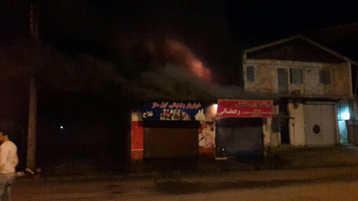 وقوع دو حادثه آتش سوزی در کلاچای + عکس