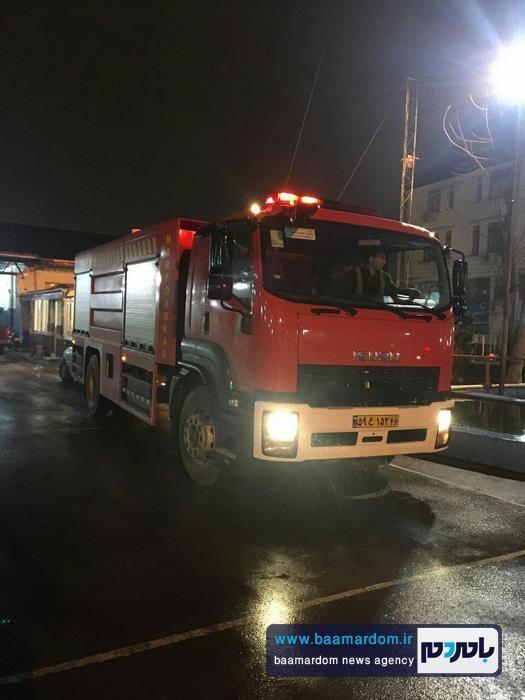 اضافه شدن خودرو نيمه سنگين ايسوزو به ناوگان آتش نشاني شهرداری لاهيجان + تصاویر
