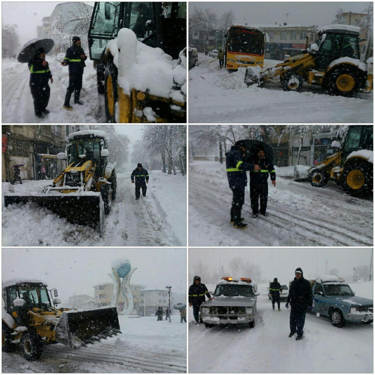 بازگشایی جاده ها و راه های دستری توسط اداره گاز شهرستان لاهیجان + تصاویر