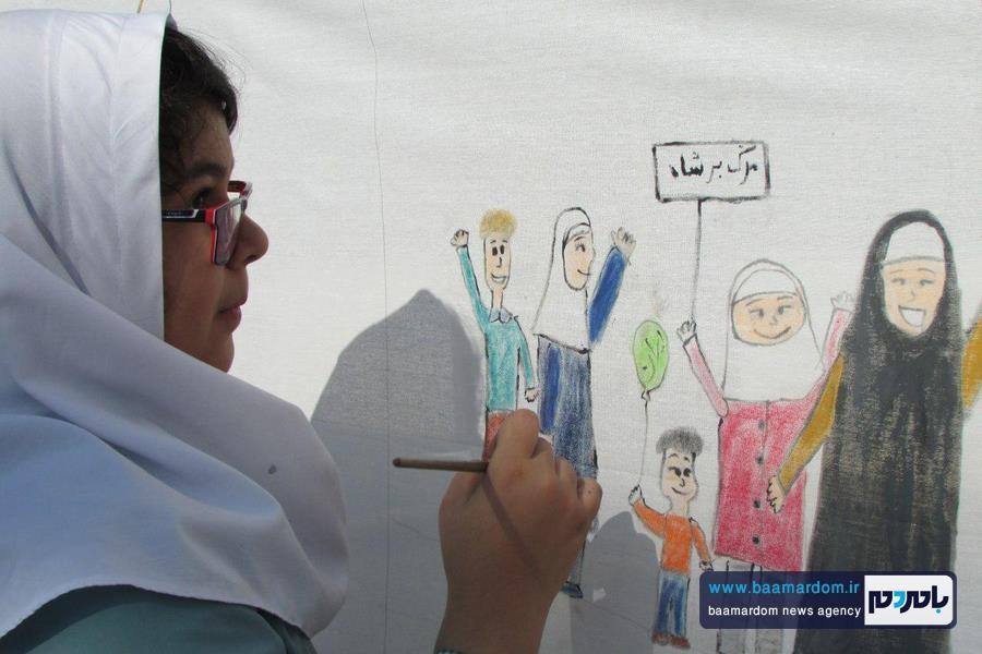 جشن نقاشی در لاهیجان برگزار شد + تصاویر