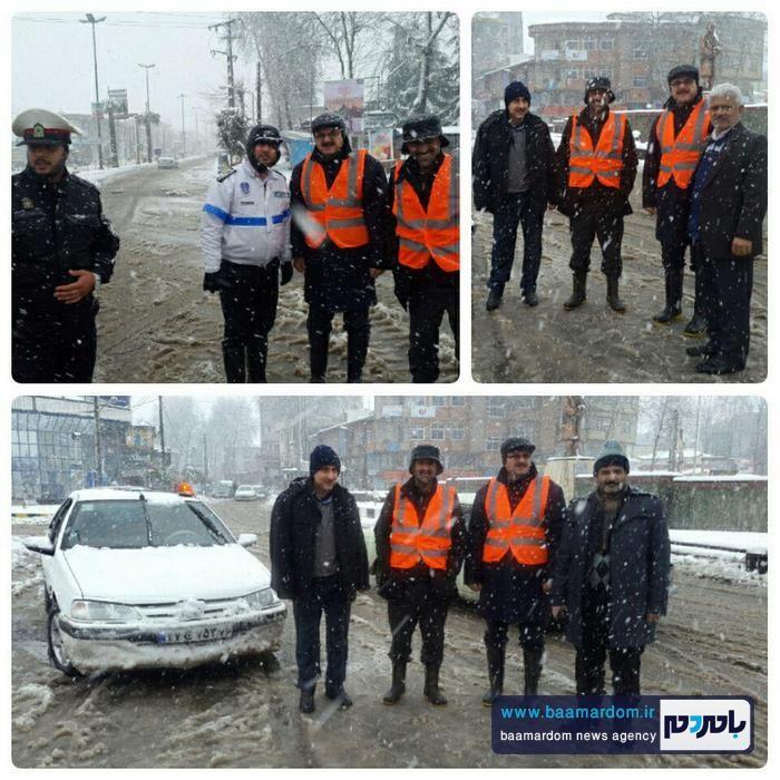 تلاش و خدمات رسانی شبانه روزی نیروهای شهرداری آستانه اشرفیه در برف اخیر + گزارش تصویری