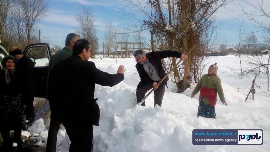 جزئیات ماجرای دست به بیل شدن نماینده لاهیجان + تصاویر