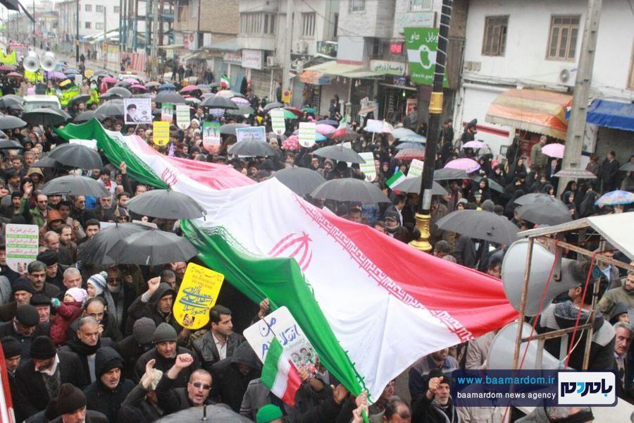 راهپیمایی باشکوه ۲۲ بهمن در آستانه اشرفیه برگزار شد + گزارش تصویری
