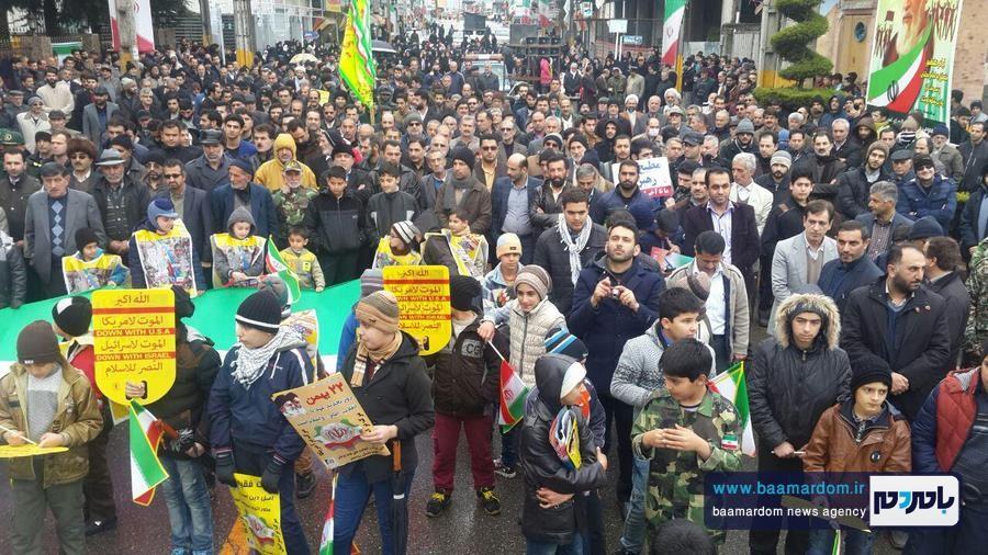 راهپیمایی پرشکوه یوم الله ۲۲بهمن در کلاچای برگزار شد + گزارش تصویری