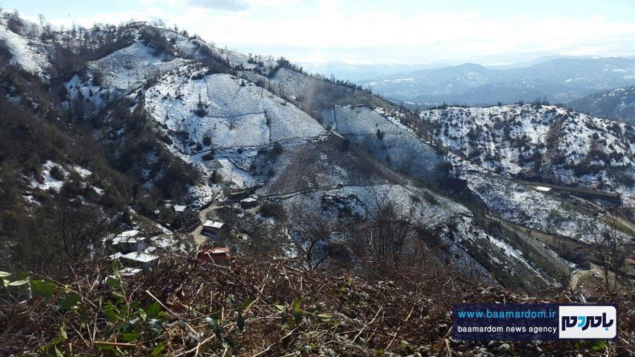 زیباییهای منطقه هفتپیچ لاهیجان پس از بارش برف شب گذشته